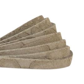 DQ Leer suède plat 5mm reptile khaki taupe 40467