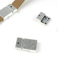 Magnetische sluiting 21x12x6mm antiekzilver d13652
