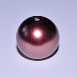 Glasparel 12mm rond bruin