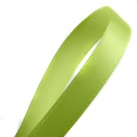 Satijnlint 10mm per meter lime groen
