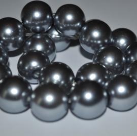 Glasparel 8mm rond zilvergrijs