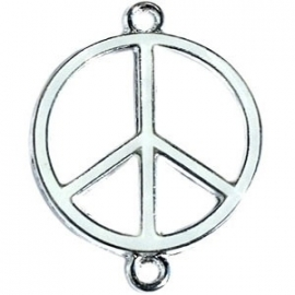 Peace tussenzetsel 29x22mm wit