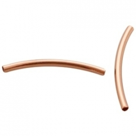 DQ tube 2,5x35mm roségoud plated 21342