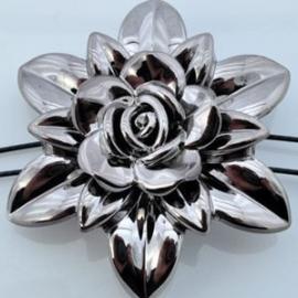 Acryl bloemenkraal 57x19mm bronsbruin