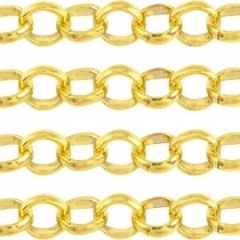 BQ jasseron schakel 4,2mm goud, 100cm 30402