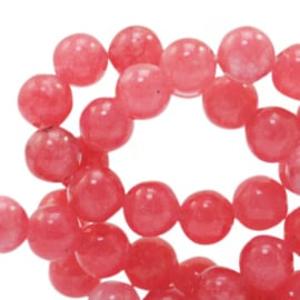 Jade coral red 8mm 73856