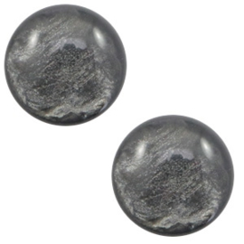 Cabochon Polaris 7mm lively dark grey 56105