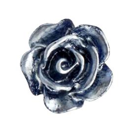 Roosje 10mm donker blauw-zilver coating 53503