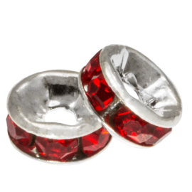 Rhinestone spacer 4x2mm red K568