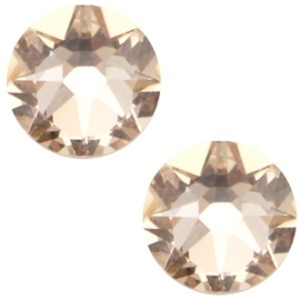 Swarovski Elements SS34 flatback Xirius Rose light silk beige 26964