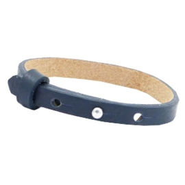Cuoio armband 8mm leer dark midnight blue 46941