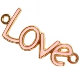 Love tussenzetsel 40x16mm light peach-goud
