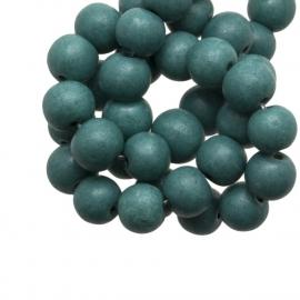 Glaskraal stonewash teal 6mm 10 stuks CE251