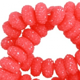 Sparkling beads 8mm disc rouge red 24378