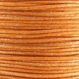 Waxkoord oranje metallic 1mm per meter