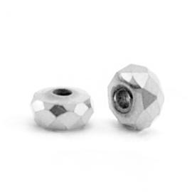 Hematite kralen facet rondel 4x2mm silver 10 stuks 63187