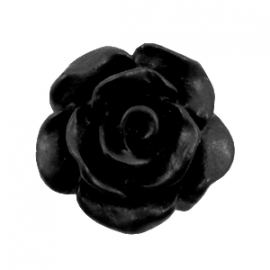 Roosje 10mm matt zwart 34775