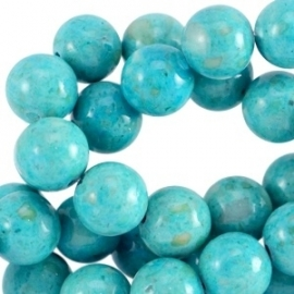 Jade gemêleerd dark aqua blue 8mm 30176