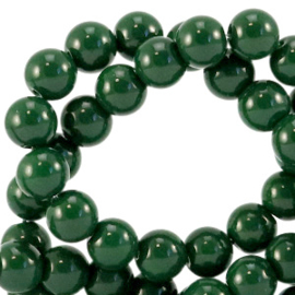 Glaskraal 4mm opaque dark eden green 64835