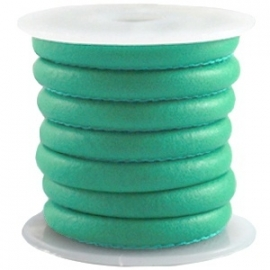 DQ Stitched nappa leer 4mm dark crysolite green 22734
