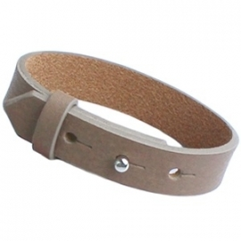 Cuoio armband 15mm leer taupe 17093