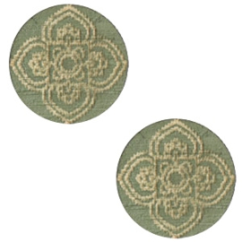 Cabochon plat 12mm hout dark green mandala 47151