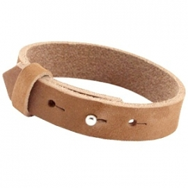 Cuoio armband 15mm nubuck leer cognac brown 30337
