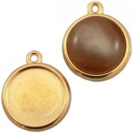 DQ Setting voor 12mm cabochon goud nikkelvrij 21242
