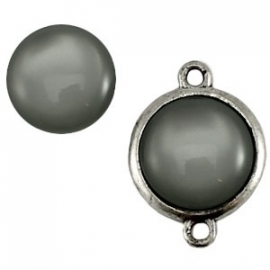 Cabochon Polaris 20mm shiny silver night 11714