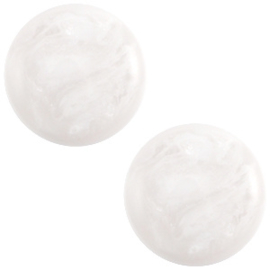 Cabochon Polaris 7mm jais wit beige 27507