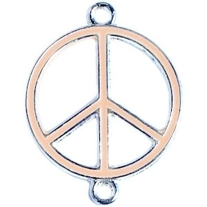 Peace tussenzetsel 29x22mm licht peach