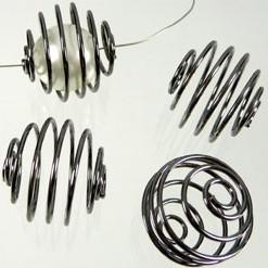 Spiraal 17mm metaal black nikkel