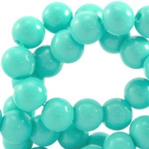 Glaskraal opaque 6mm light emerald groen 10 stuks 23893