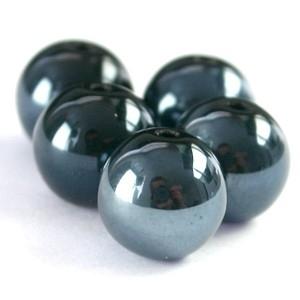 High shine kralen 6mm zwart hematite