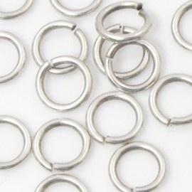 DQ Ringetje 6x1,2mm 20 stuks antiek zilver mf6370