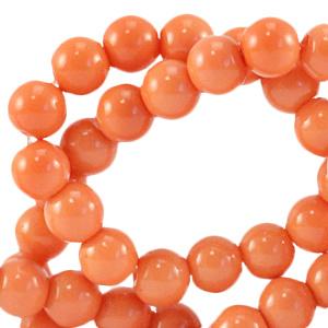 Glaskraal 4mm opaque coral nectarine orange 64856