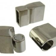 Magnetische sluiting 20x11x6mm antiekzilver