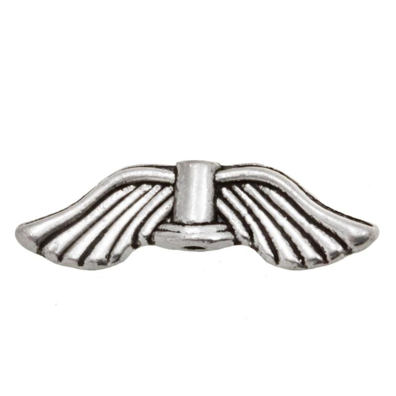 Metalen vleugelkralen 21x6mm K401