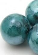 Glaskraal crackle shine 6mm blauwgroen melee mf25700