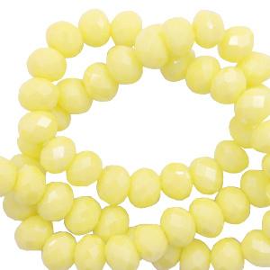 Top facet 6x4mm rondel sunshine yellow-pearl shine coating 60960