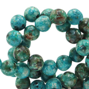 Jade dark turquoise blue 8mm 73853