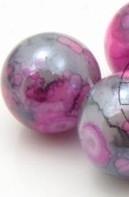 Glaskraal crackle shine 6mm roze melee mf25702
