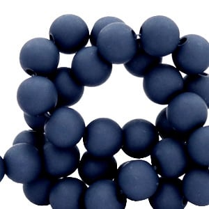 Acrylkraal 6mm rond peacoat blue 69097