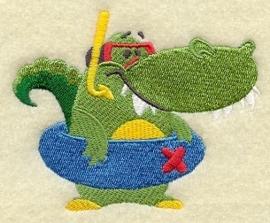 Krokodil met zwemband - ZB01