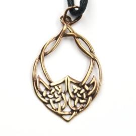 HA01 - Keltische-knoop hanger van brons