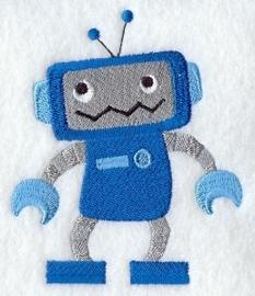 Blauwe robot