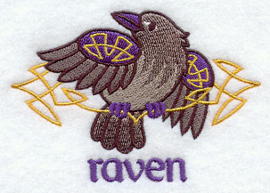 Handdoek of Baddoek met Celtic Raven