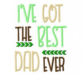"""Slabbetje """"Best Dad"""""""