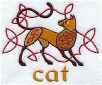 Handdoek of Baddoek met Celtic Cat