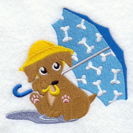 Puppy met paraplu - PB05